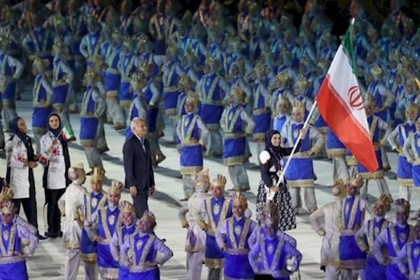 رژه کاروان ایران در بازی های آسیایی
