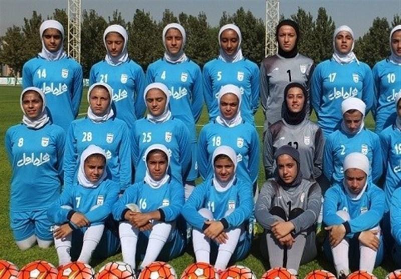 فوتبال دختران جوان ایران و اردن دیدارهای دوستانه برگزار می نمایند
